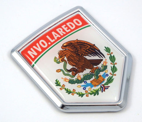 Nvo Laredo Mexico Flag Mexican Car Emblem Chrome Bike Decal 3D Sticker MX4