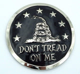 Don't t Tread on me Gadsden flag Grille badge American flag emblem for car truck grill mount metal