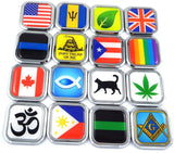 Guyana Flag Square Chrome rim Emblem Car 3D Decal Badge Hood Bumper sticker 2""