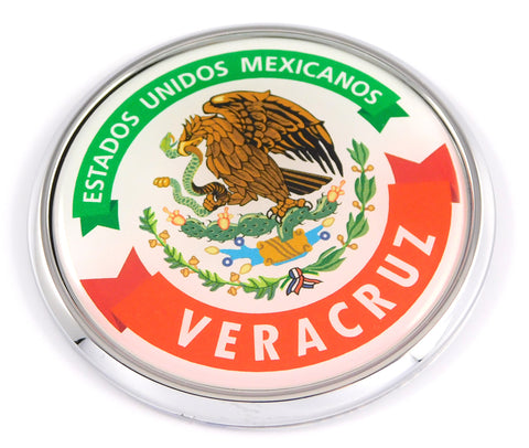 Veracruz Mexico Mexican State Car Chrome Round Emblem Decal 3D Badge 2.75""