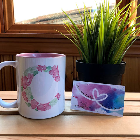 Custom Floral Monograms - Mugs, Pillows and More!