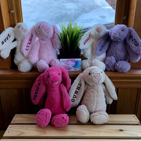 Plush Bunnies Personalized - Various Sizes!