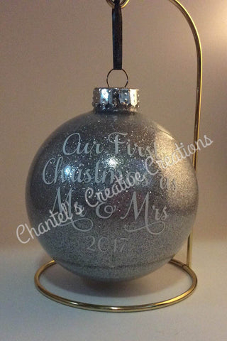 Our First Christmas 100mm Round Ornament