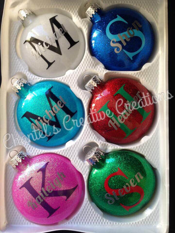 Monogrammed 80mm Ornament