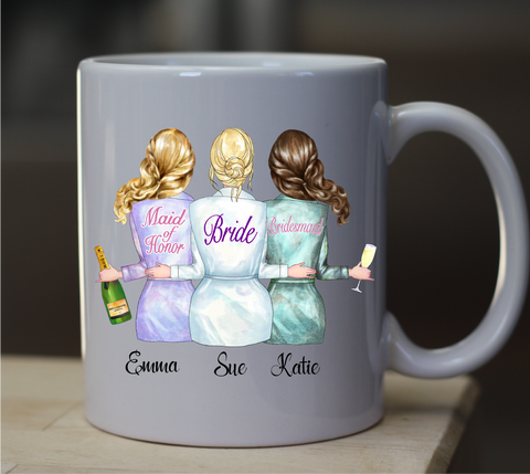 Wedding Party Custom Mugs