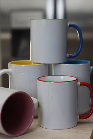 Custom Coloured Accent Mugs