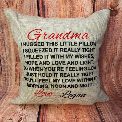 V1. Custom Grandparent Pillow