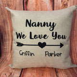 We Love Our Pillow with Kids Printing
