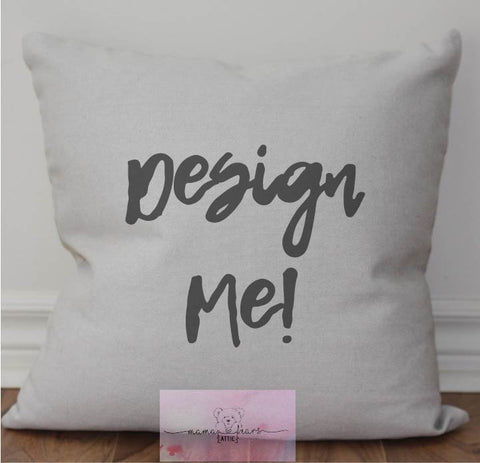 Custom Pillows (permanent ink transfer designs)