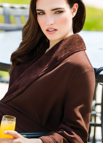 Noble Plush Lined Microfiber Shawl