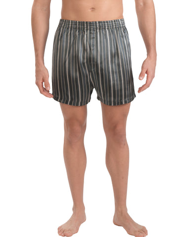 Black Stripe Silk Boxer Short