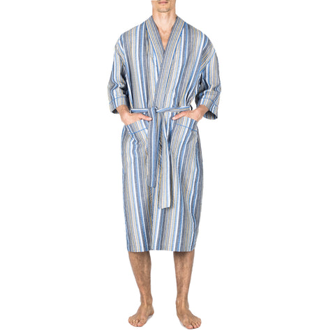 Big And Tall Cotton Long Sleeve Pajama In Blue