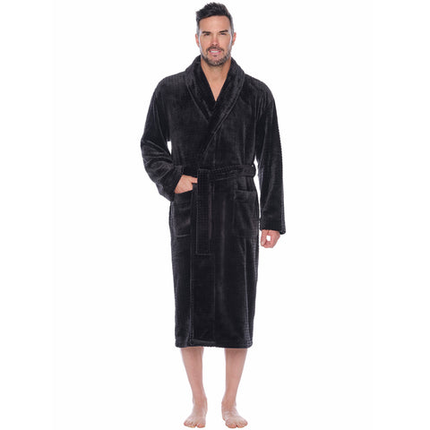 Mega Metro Plush Fleece Shawl Robe