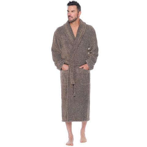 Past And Present Plush Shawl Robe