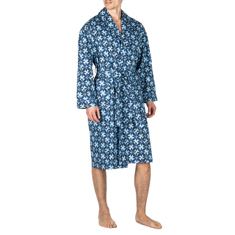 Polka Dot Silk Charmeuse Shawl Robe