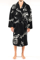 Rockin' Bears Big And Tall Terry Velour Shawl Robe