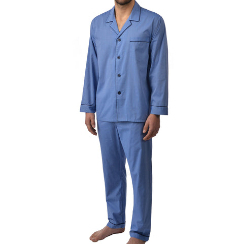 Easy Care Long Sleeve Pajama In Blue