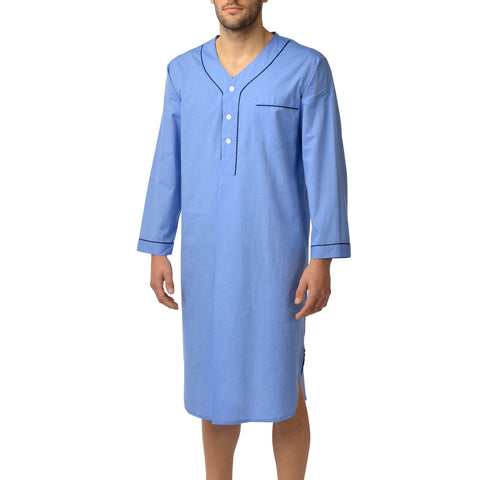 Cotton Nightshirt In Blue