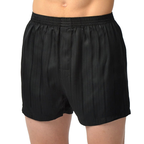 Herringbone Stripe Silk Boxer Short