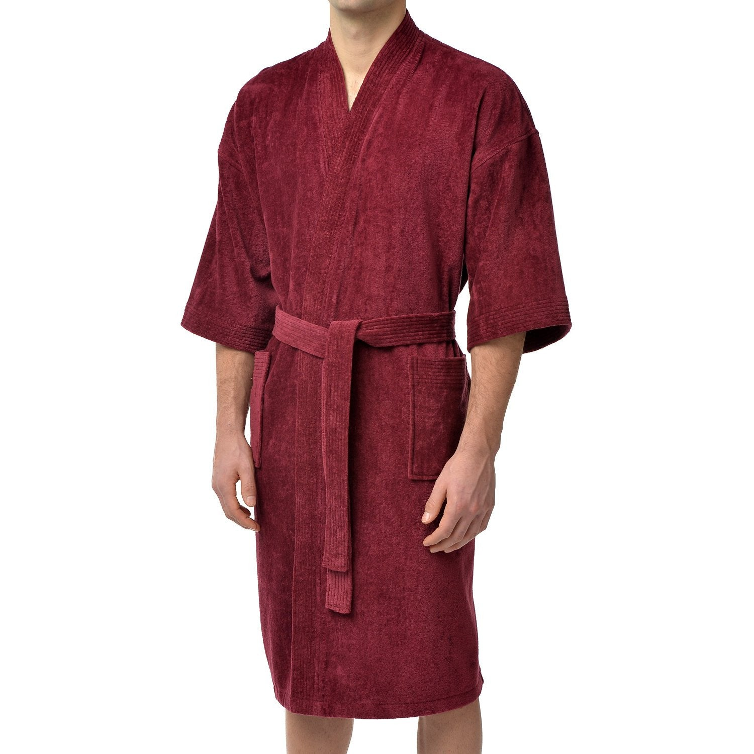 Solid Terry Velour Kimono Robe – Majestic International