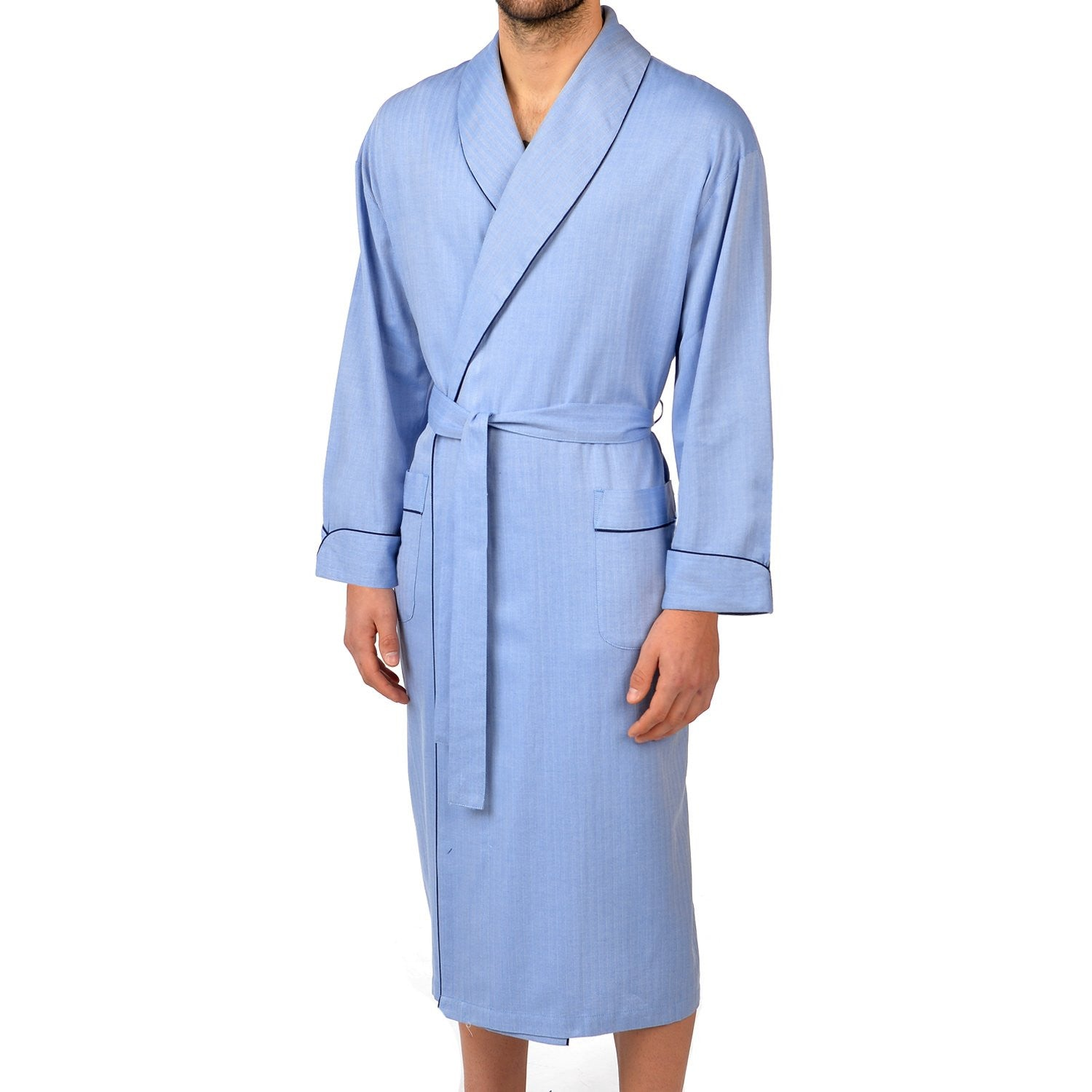 Herringbone Cotton Better Shawl Robe