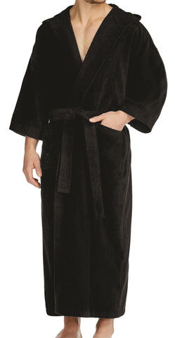 Big and Tall Cobalt Woven Shawl Robe