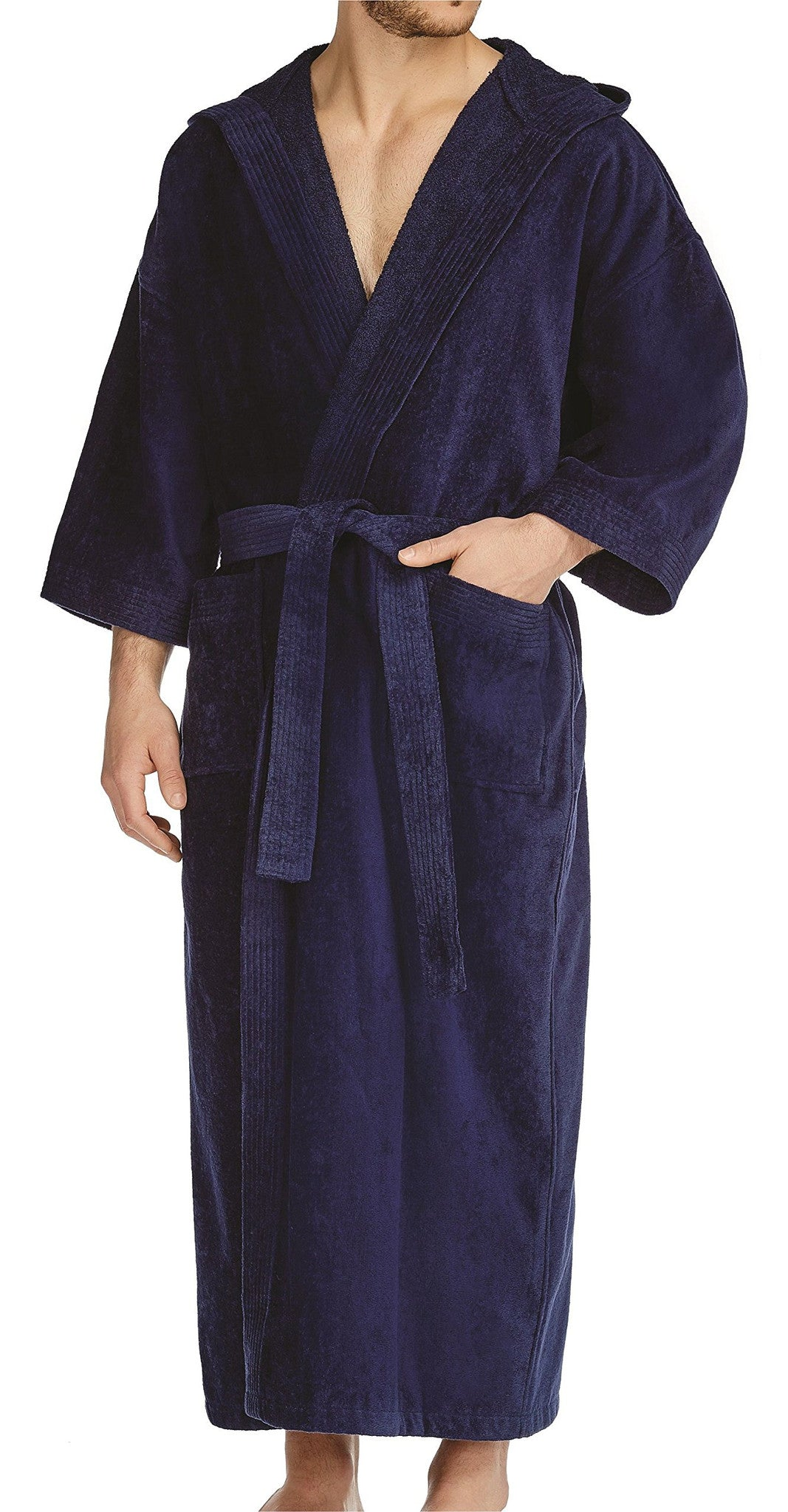 Basic Terry Velour Hooded Robe
