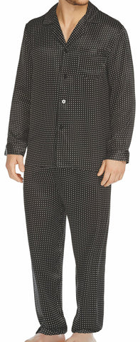 Black Stripe Silk Pajama