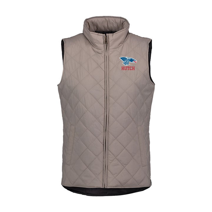 Power Dragon Ladies Khaki Quilted  Vest