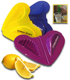 VALUE PACK    >>   Set of 3 Lemon Heart Citrus Squeezers  in one Poly Bag