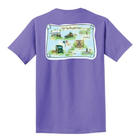 HHS Purple Map Tee