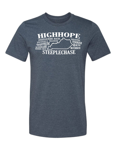 Mens High Hope Steeplechase State Definition Tee