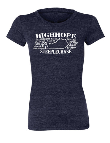 Ladies High Hope Steeplechase State Definition Tee