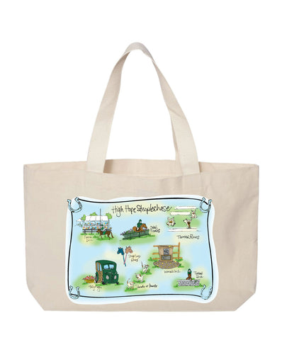 High Hope Steeplechase Map Canvas Tote