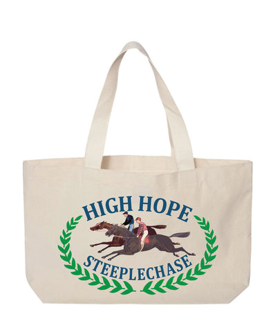 High Hope Steeplechase Logo Canvas Tote