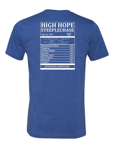 Mens High Hope Steeplechase Label Tee