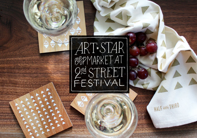 Art Star 2nd St Festival + Half and a Third, Kate Mangels, Katey Mangels, Katey Mangels design