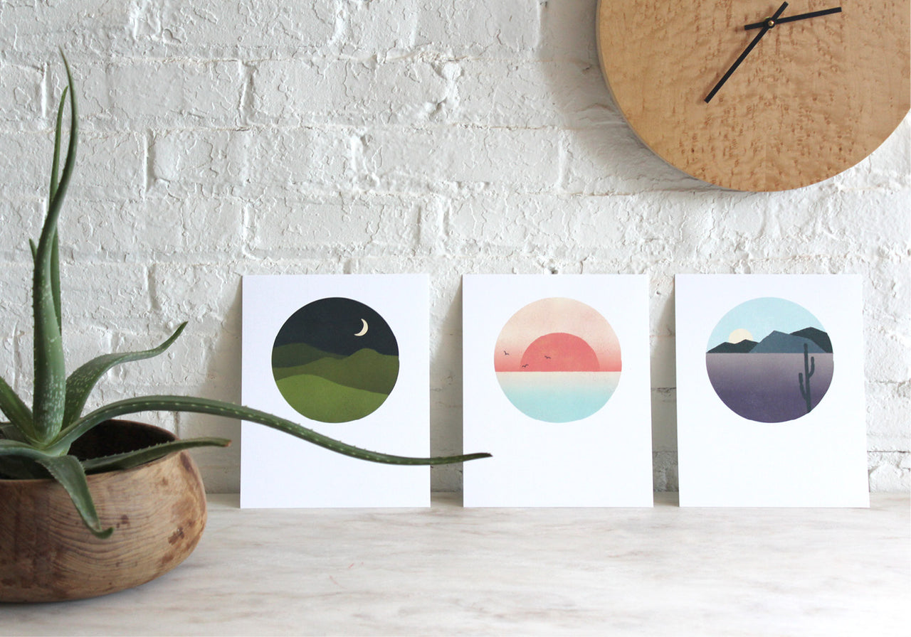 Half and a Third, Half and a Third Prints,  Katey Mangels, Landscape Prints, Mountains, Sunset, Desert,