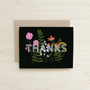 Wildflower Thanks Card