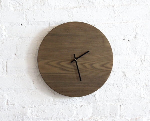 Half and a Third, Half and a Third Clock, Oxidized Ash Clock, Handmade Clock, Half and a Third Homewares, Kate Mangels, Katey Mangels