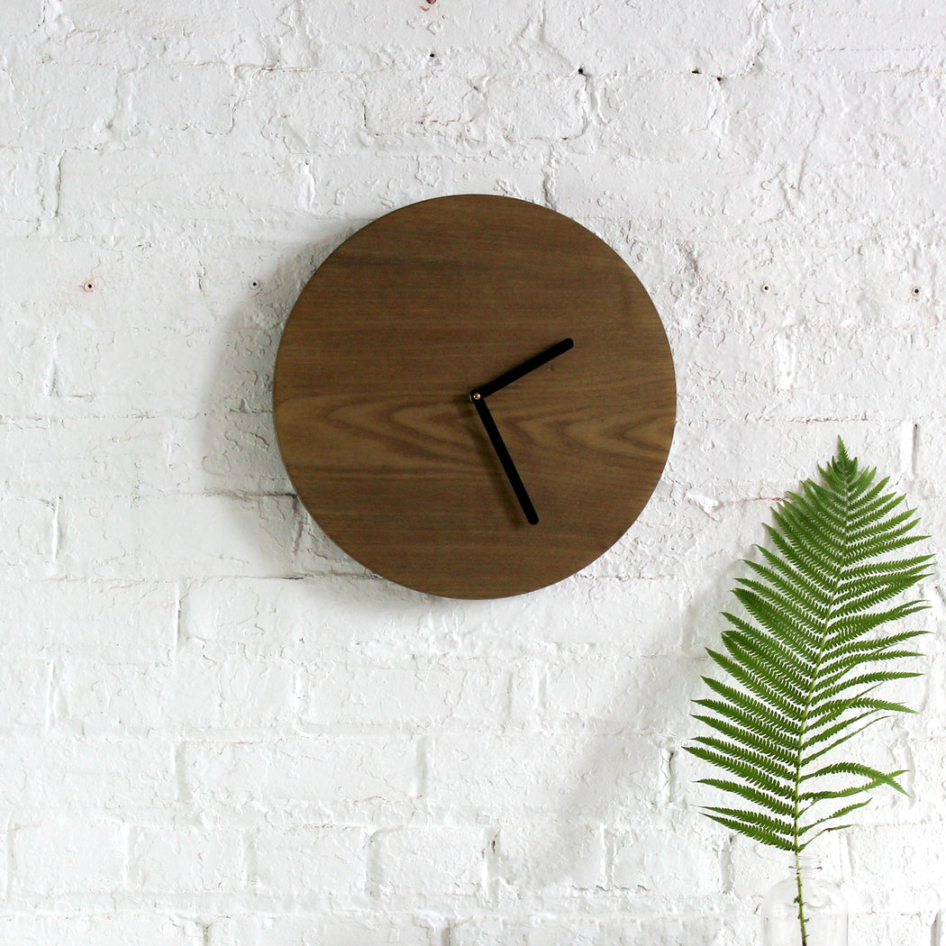 Half and a Third, Half and a Third Clock, Katey Mangels, Oxidized Ash Clock, Handmade Clock, Half and a Third Homewares, Kate Mangels, Katey Mangels
