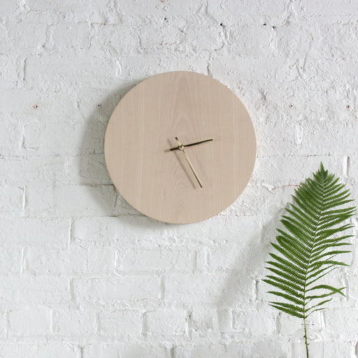 Half and a Third, Half and a Third Clock, Whitewashed Ash Clock, Katey Mangels, Handmade Clock, Half and a Third Homewares, Kate Mangels, Katey Mangels