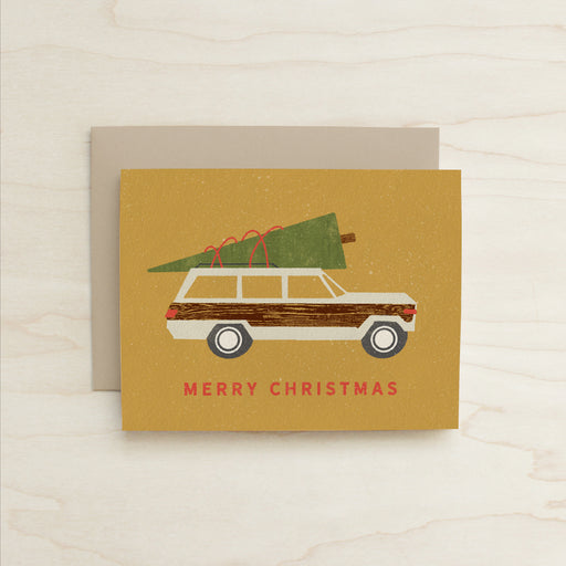 Half and a Third, Woody Card, Wagoneer Card, Holiday Card, Katey Mangels