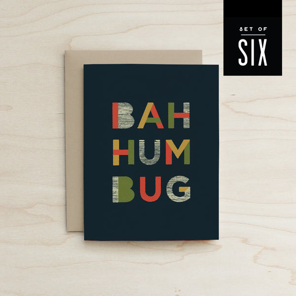 Boxed Set of 6 Bahumbug Card