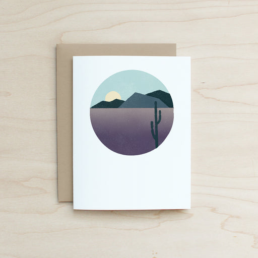 Desert Card, Half and a Third, Katey Mangels, Half and a Third Card, Half and a Third Greeting Card