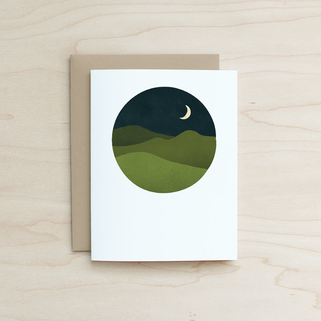 Half and a Third, Half and a Third LLC, Half and a Third Card, Katey Mangels, Half and a Third Greeting Card, Mountians Card