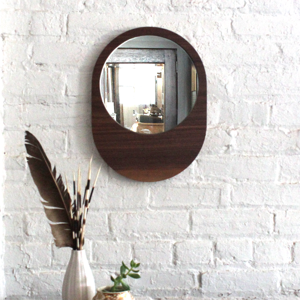 Large Pill Mirror - Walnut No.1