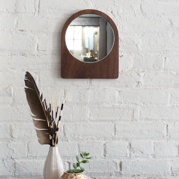 Small Ring Mirror - Walnut No.2