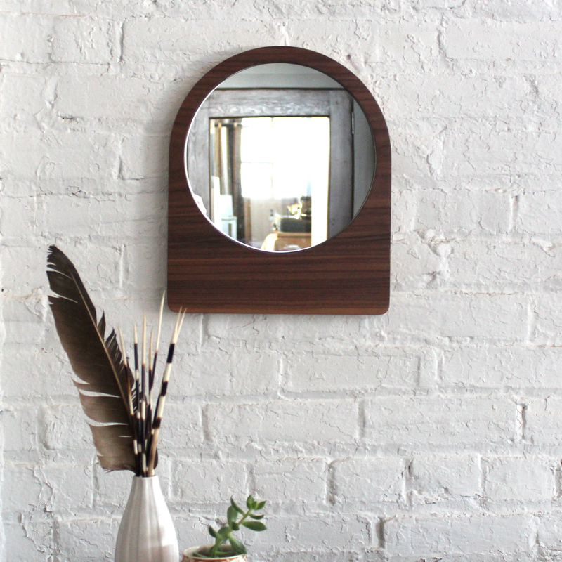Large Ring Mirror - Walnut No.1