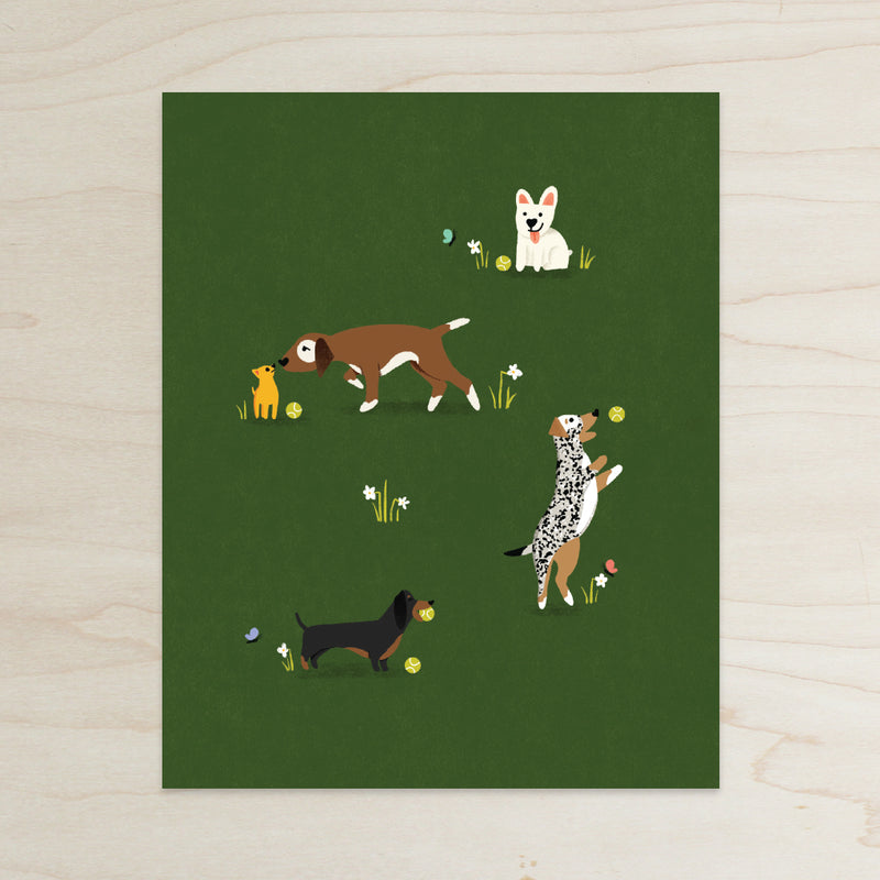 Find your Happy Place Dog Print